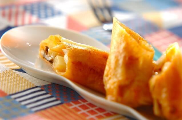 チーズのポテト春巻き