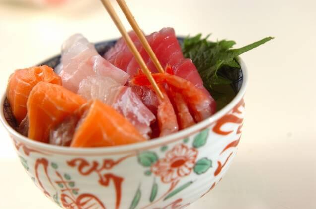 海鮮丼の作り方の手順4