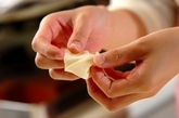 ハムとチーズの揚げワンタンの作り方1