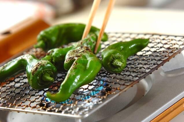 焼き万願寺唐辛子の作り方の手順3