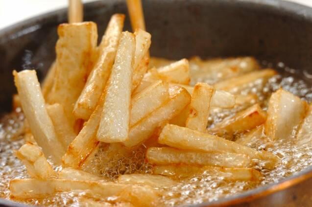 フライド大根チーズペッパー味の作り方の手順2