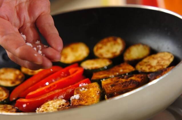 鶏肉と野菜のグリルガーリックソースの作り方の手順4