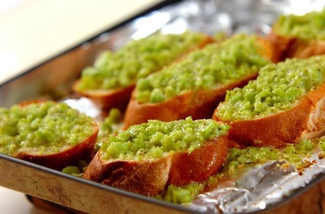 ソラ豆のチーズブルスケッタの作り方の手順3
