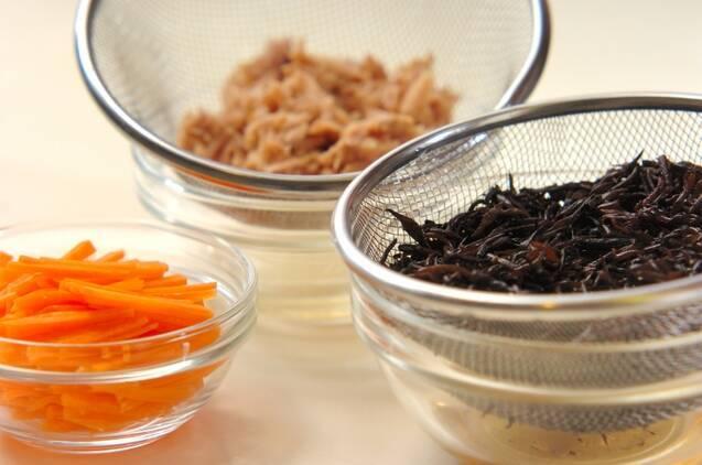 ツナ入りヒジキの煮物の作り方の手順1