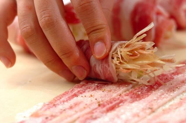 豚肉の薬味巻きの作り方の手順2