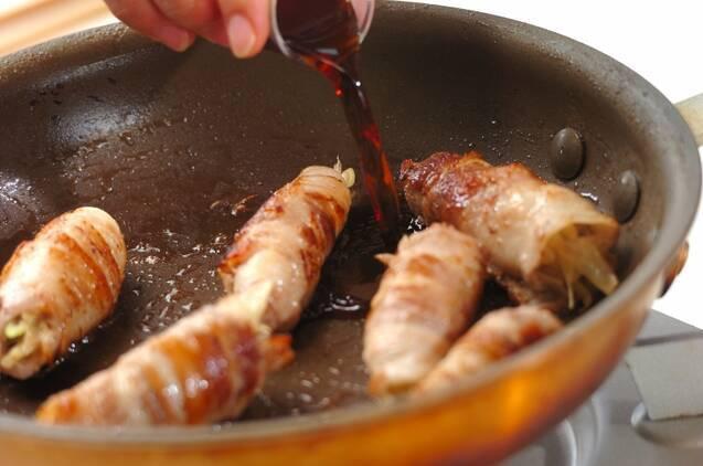 豚肉の薬味巻きの作り方の手順4