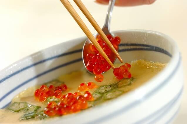 ツナとオクラの冷製レンジ茶碗蒸しの作り方の手順5