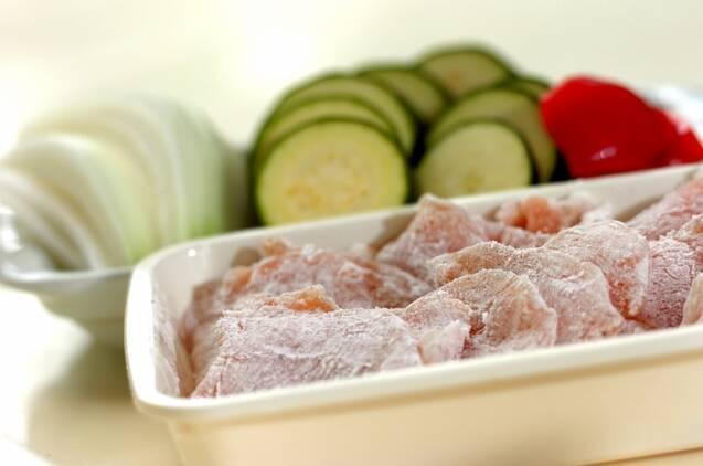 鶏むね肉のカレークリーム煮の作り方の手順1