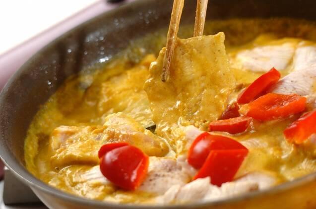鶏むね肉のカレークリーム煮の作り方の手順6