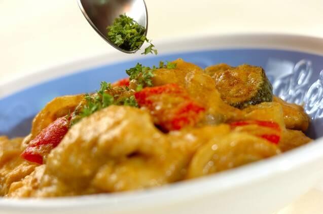 鶏むね肉のカレークリーム煮の作り方の手順7