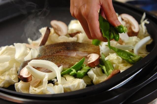 鮭のガーリックバターチャンチャン焼きの作り方の手順4