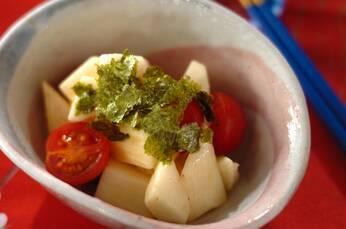 長芋とトマトのワサビ和え