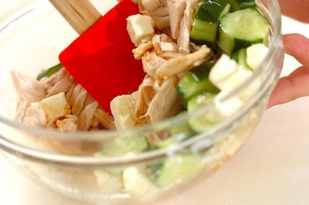 鶏ささ身のワサビ風味サラダの作り方の手順3