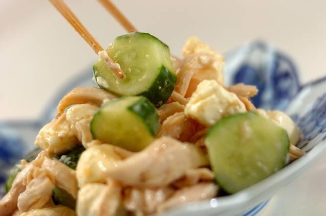 鶏ささ身のワサビ風味サラダの作り方の手順4