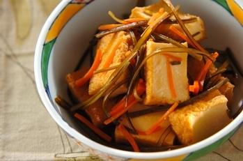 昆布と厚揚げの煮物