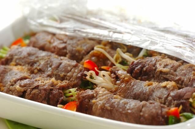 野菜の牛肉巻きの作り方の手順3