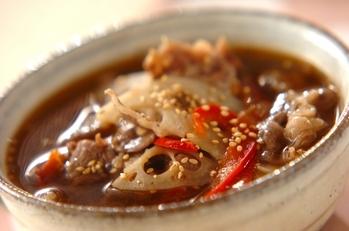 牛肉とレンコンのスープ