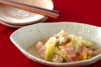 干し白菜と鶏もも肉のあんかけ
