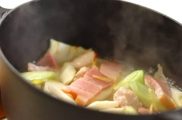 干し白菜と鶏もも肉のあんかけの作り方の手順6