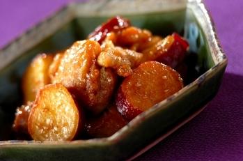 鶏とサツマイモの南蛮酢炒め