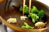 ブロッコリーぺペロンチーノの作り方2