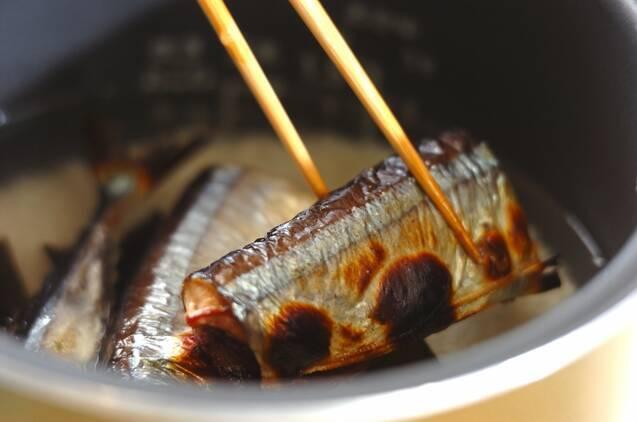 サンマ炊き込みご飯の作り方の手順5
