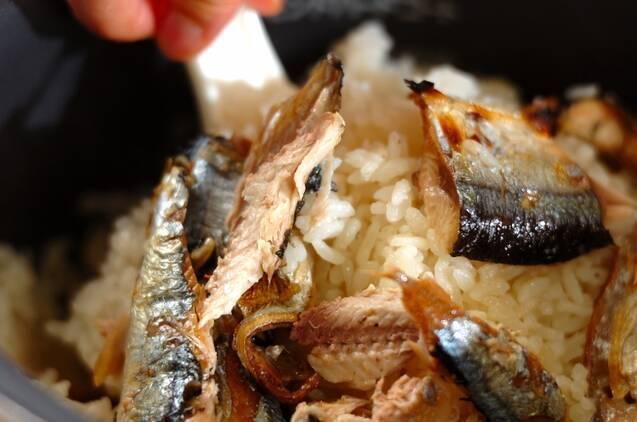 サンマ炊き込みご飯の作り方の手順6