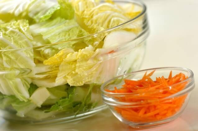 白菜の塩昆布煮の作り方の手順1