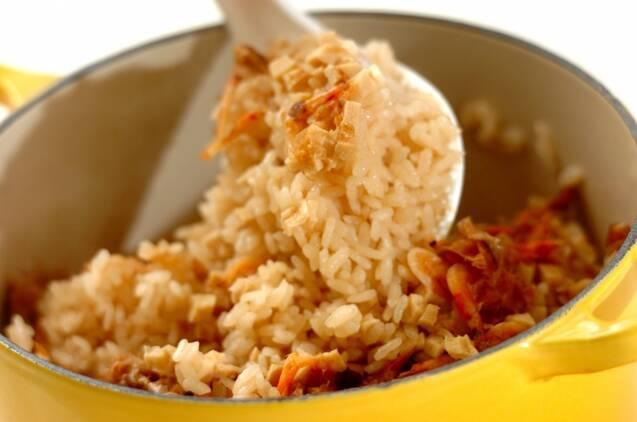 鍋で炊く乾物の旨み炊き込みご飯の作り方の手順5