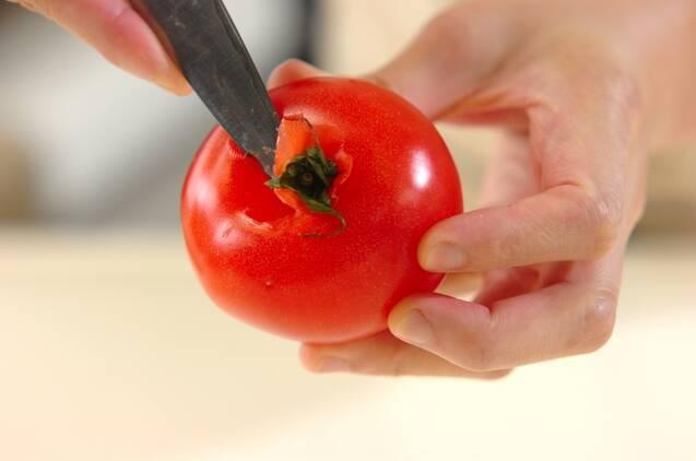 トマトと玉ネギのスープの作り方の手順1