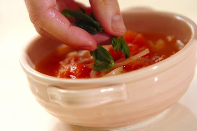 トマトと玉ネギのスープの作り方の手順5