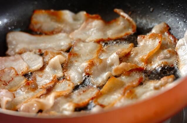 豚バラ肉のたっぷりネギダレがけの作り方の手順2