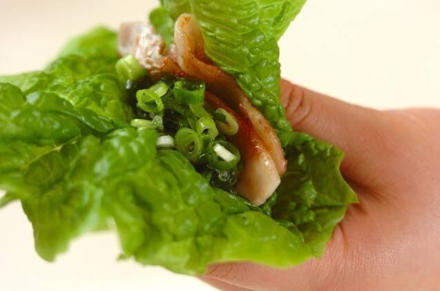 豚バラ肉のたっぷりネギダレがけの作り方の手順3
