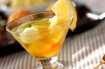 梅酒のフルーツカクテル