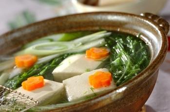 熱々湯豆腐 ポン酢しょうゆ添え