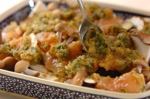鶏むね肉とキノコの大葉みそ焼き(漬け込み時間有り)の作り方の手順3