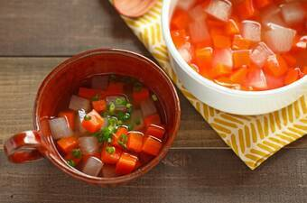 冷凍もできる作り置き!大根とにんじんの濃縮しょうがスープ