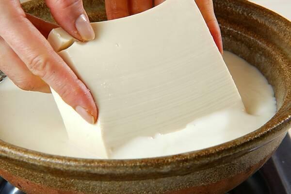 湯豆腐・豆乳鍋仕立ての作り方の手順4