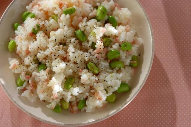 枝豆とベーコンのまぜご飯
