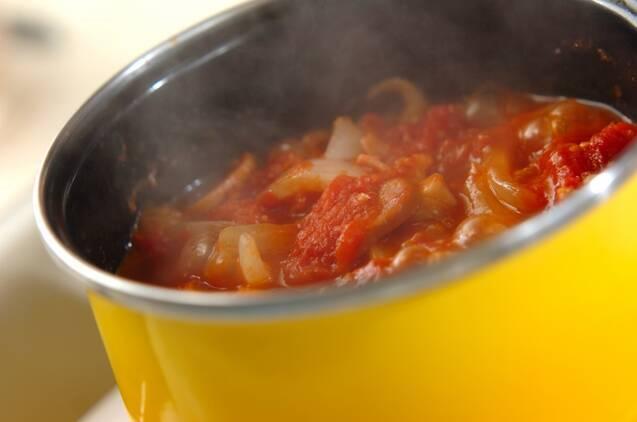 鶏手羽元の柔らかトマト煮の作り方の手順9