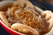 豚ひき肉とナメタケの蒸しもの