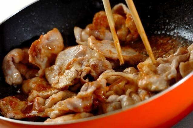 味噌でひと味違うコク!豚肉のみそショウガ焼きの作り方の手順3