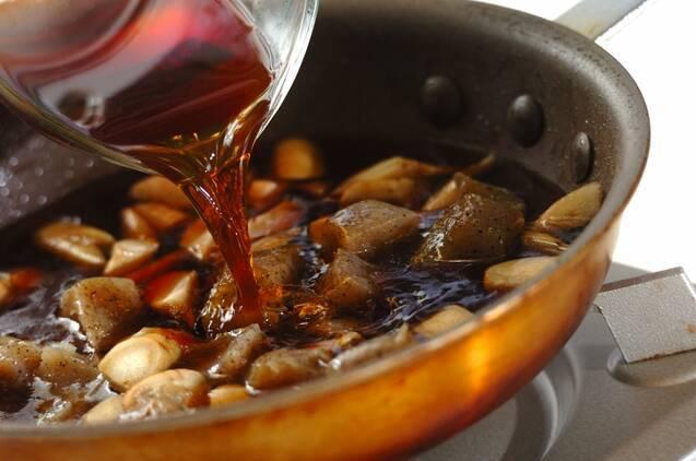 牛肉とゴボウの炒め煮の作り方の手順4