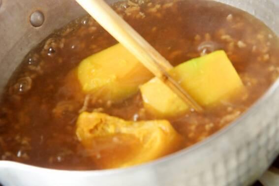 カボチャのそぼろ煮の作り方の手順4