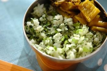 小松菜とシラスのチャーハン