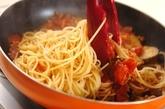 ツナとナスのトマトソースパスタの作り方4