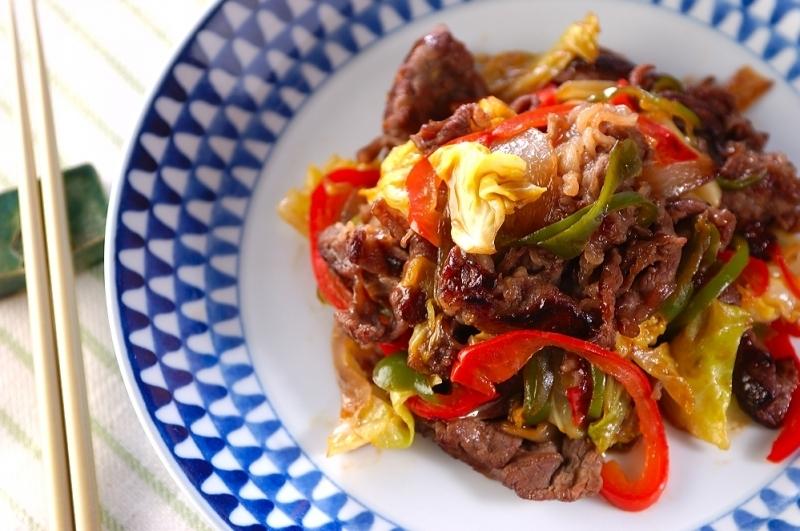 7. 牛肉と野菜の炒め物