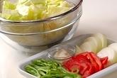 牛肉と野菜の炒め物の下準備6