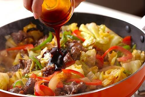 牛肉と野菜の炒め物の作り方の手順9