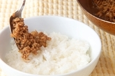 豚肉入り納豆キムチ丼の作り方1